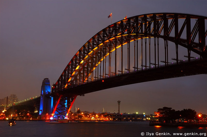 australia stock photography | Sydney Harbour Bridge 75th Anniversary, Sydney, New South Wales, Australia, Image ID AUHB0010