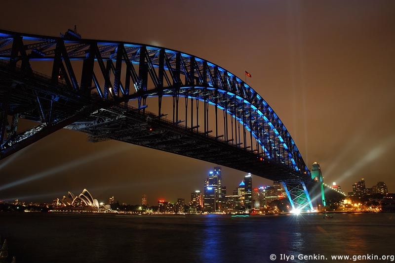 australia stock photography | Sydney Harbour Bridge 75th Anniversary, Sydney, New South Wales, Australia, Image ID AUHB0015