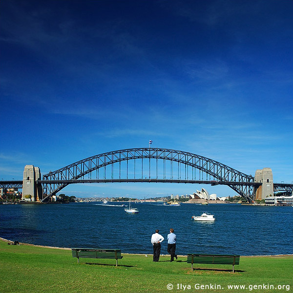 australia stock photography | Sydney Harbour Bridge, Sydney Harbour Bridge from McMahons Point, Sydney, NSW, Image ID AUHB0016