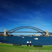 australia stock photography | Sydney Harbour Bridge, Sydney Harbour Bridge from McMahons Point, Sydney, NSW, Image ID AUHB0016.