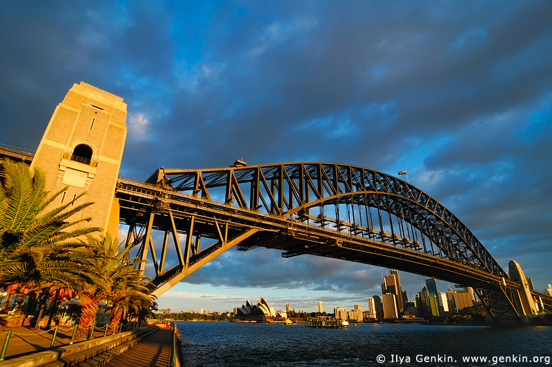 australia stock photography | Harbour Bridge at Sunset from Luna Park, Sydney, New South Wales, Australia, Image ID AUHB0030