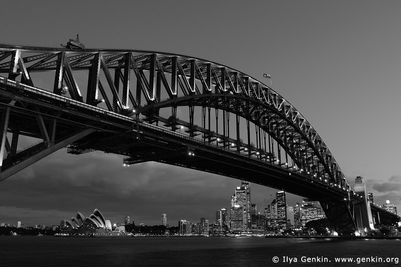 Harbour Bridge at Night, Sydney, New South Wales (NSW), Australia