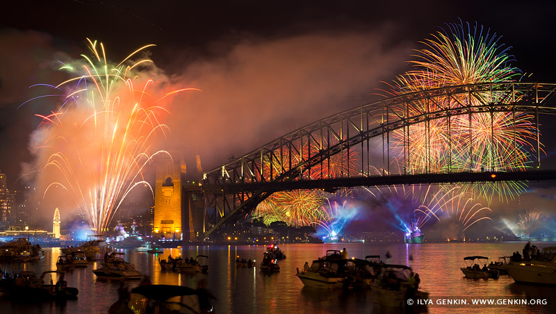 australia stock photography | Fireworks at The Royal Australian Navy International Fleet Review, View from McMahons Point, Sydney, New South Wales, Australia, Image ID NAVY-IFR-FIREWORKS-0002