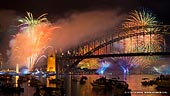 australia stock photography | Fireworks at The Royal Australian Navy International Fleet Review, View from McMahons Point, Sydney, New South Wales, Australia, Image ID NAVY-IFR-FIREWORKS-0002.