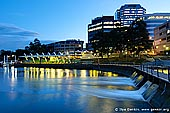 australia stock photography | Parramatta Ferry Wharf at Sunset, Parramatta, Sydney, NSW, Australia, Image ID AU-SYDNEY-PARRAMATTA-0007. The Parramatta ferry wharf is at the Charles Street Weir, which divides the tidal saltwater from the freshwater of the upper river, on the eastern boundary of the Central Business District. The wharf is the westernmost destination of the Sydney Ferries River Cat ferry service which runs on Parramatta River.