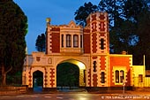 australia stock photography | Tudor Gates at Parramatta Park, Parramatta, Sydney, NSW, Australia, Image ID AU-SYDNEY-PARRAMATTA-0009. Stock image of the Tudor Gate house at Eastern entrance to the Governers Domain (Parramatta Park) at night in Parramatta, Sydney, NSW, Australia.