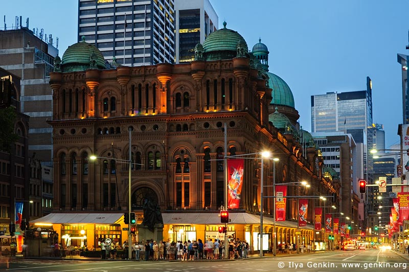 australia stock photography | Queen Victoria Building (QVB) at Dusk, Sydney, New South Wales (NSW), Australia, Image ID AU-SYDNEY-QVB-0001