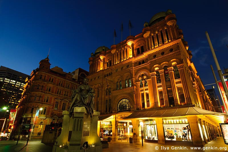 australia stock photography | Queen Victoria Building (QVB) at Dusk, Sydney, New South Wales (NSW), Australia, Image ID AU-SYDNEY-QVB-0002
