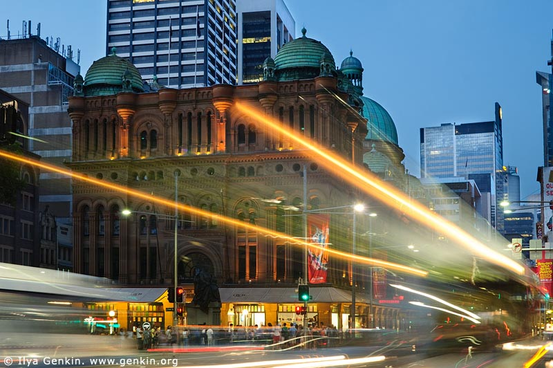 australia stock photography | Queen Victoria Building (QVB) at Dusk, Sydney, New South Wales (NSW), Australia, Image ID AU-SYDNEY-QVB-0003