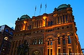 australia stock photography | Queen Victoria Building (QVB) at Dusk, Sydney, New South Wales (NSW), Australia, Image ID AU-SYDNEY-QVB-0004.