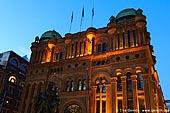 australia stock photography | Queen Victoria Building (QVB) at Dusk, Sydney, New South Wales (NSW), Australia, Image ID AU-SYDNEY-QVB-0004.