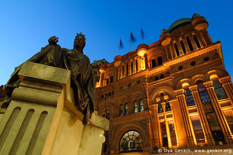 australia stock photography | Queen Victoria Building (QVB) at Dusk, Sydney, New South Wales (NSW), Australia, Image ID AU-SYDNEY-QVB-0006