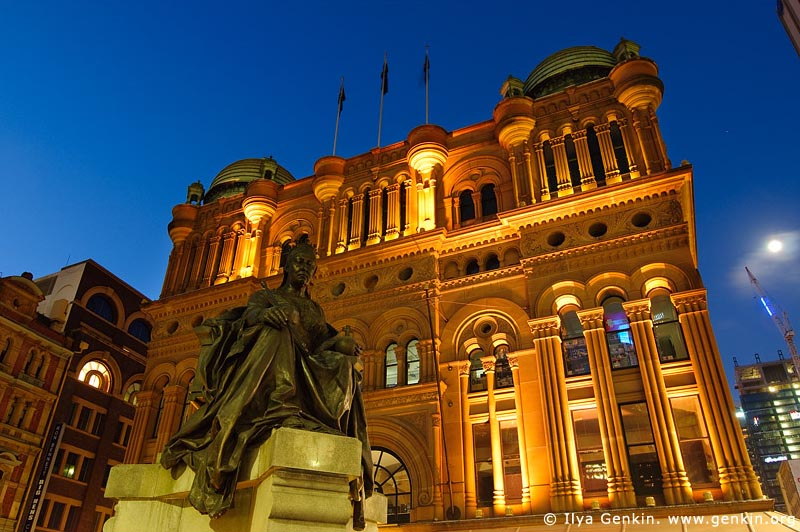 australia stock photography | Queen Victoria Building (QVB) at Dusk, Sydney, New South Wales (NSW), Australia, Image ID AU-SYDNEY-QVB-0007
