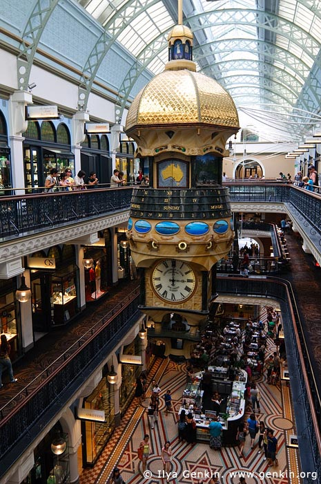 australia stock photography | Great Australia Clock at QVB, Interior of the Queen Victoria Building (QVB), Sydney, New South Wales (NSW), Australia, Image ID AU-SYDNEY-QVB-0030