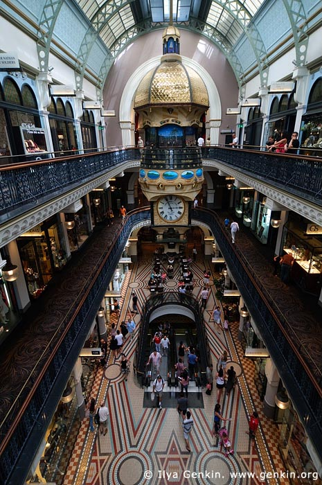 australia stock photography | Great Australia Clock at QVB, Interior of the Queen Victoria Building (QVB), Sydney, New South Wales (NSW), Australia, Image ID AU-SYDNEY-QVB-0032