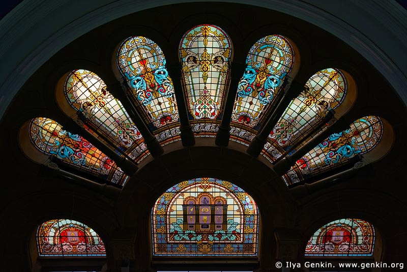 australia stock photography | Stained Glass Windows at QVB, Interior of the Queen Victoria Building (QVB), Sydney, New South Wales (NSW), Australia, Image ID AU-SYDNEY-QVB-0033