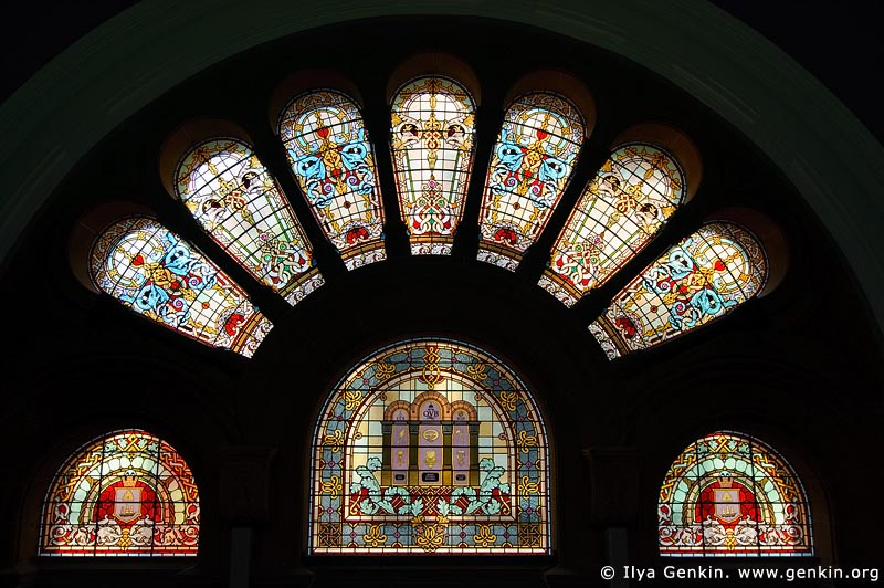 australia stock photography | Stained Glass Windows at QVB, Interior of the Queen Victoria Building (QVB), Sydney, New South Wales (NSW), Australia, Image ID AU-SYDNEY-QVB-0034