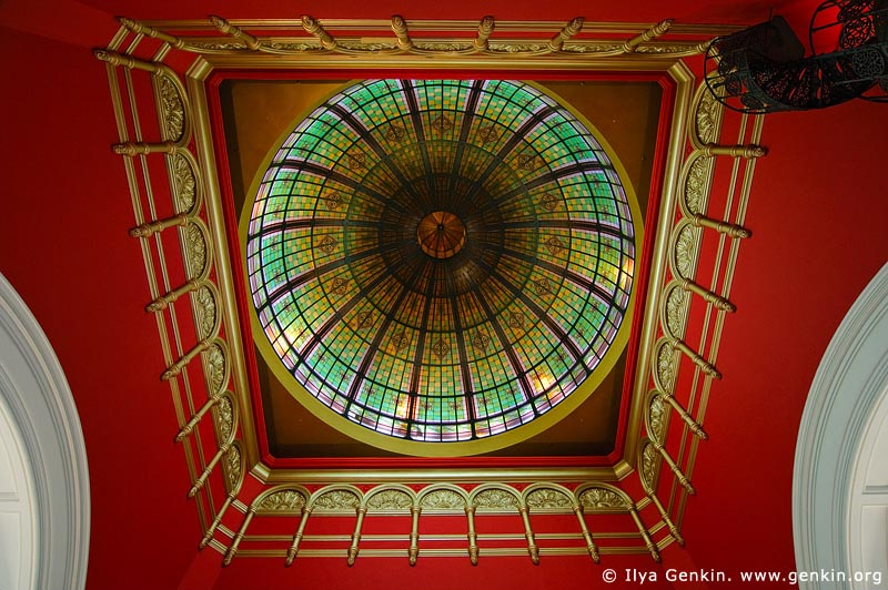 australia stock photography | Stained Glass Dome at QVB, Interior of the Queen Victoria Building (QVB), Sydney, New South Wales (NSW), Australia, Image ID AU-SYDNEY-QVB-0035