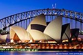 australia stock photography | Sydney Opera House and Harbour Bridge At Dusk, Sydney, NSW, Australia, Image ID AU-SYDNEY-OPERA-HOUSE-0001.