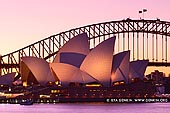 australia stock photography | Sydney Opera House from Mrs Macquarie's Chair after Sunset, Sydney, NSW, Australia, Image ID AU-SYDNEY-OPERA-HOUSE-0024. Stock photo of the Sydney Opera House from Mrs Macquarie's Chair in Sydney, Australia after Sunset.