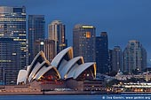 australia stock photography | The Sydney Opera House at Dawn, View from Cremorne Point, Sydney, NSW, Australia, Image ID AUOH0014.
