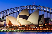 australia stock photography | Sydney Opera House and Harbour Bridge At Dusk, Sydney, NSW, Australia, Image ID AU-SYDNEY-OPERA-HOUSE-0001.