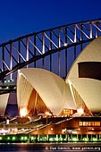 australia stock photography | Sydney Opera House and Harbour Bridge At Dusk, Sydney, NSW, Australia, Image ID AU-SYDNEY-OPERA-HOUSE-0002.