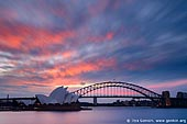 australia stock photography | Sydney Opera House and Harbour Bridge at Sunset, Sydney, NSW, Australia, Image ID AU-SYDNEY-OPERA-HOUSE-0003.