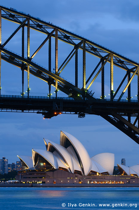 australia stock photography | Sydney Opera House and Harbour Bridge at Night, Sydney, New South Wales (NSW), Australia, Image ID AU-SYDNEY-OPERA-HOUSE-0006