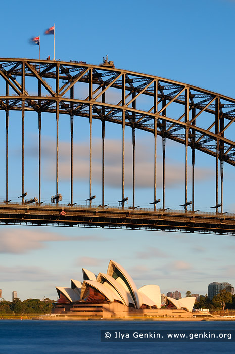 australia stock photography | Sydney Opera House and Harbour Bridge at Sunset, Sydney, New South Wales (NSW), Australia, Image ID AU-SYDNEY-OPERA-HOUSE-0010