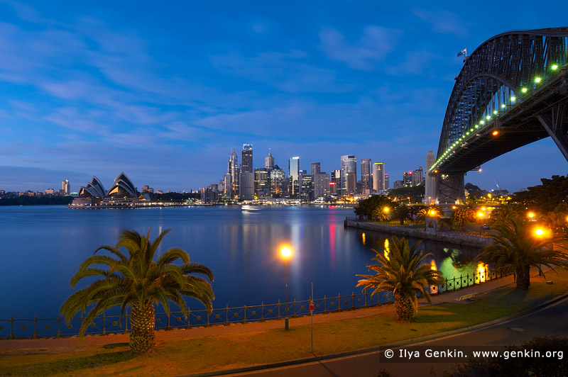 australia stock photography | Sydney CBD Skyline with the Opera House and Harbour Bridge at Dawn, Kirribilli, Sydney, NSW, Australia, Image ID AU-SYDNEY-OPERA-HOUSE-0011