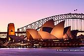 australia stock photography | Sydney Opera House and Harbour Bridge after Sunset, Mrs Macquarie's Chair, Sydney, NSW, Australia, Image ID AU-SYDNEY-OPERA-HOUSE-0012. Stock image of the Sydney Opera House and the Harbour Bridge after Sunset as it was seen from Mrs Macquarie's Chair in Sydney, NSW, Australia.