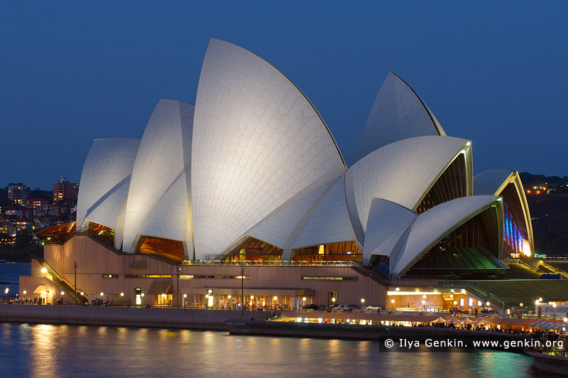 australia stock photography | Sydney Opera House from Cahill Way at Night, Sydney, NSW, Australia, Image ID AU-SYDNEY-OPERA-HOUSE-0014