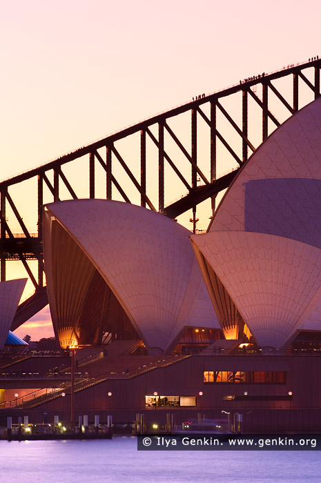 australia stock photography | Sunset over Sydney Opera House and Harbour Bridge, Mrs Macquarie's Chair, Sydney, NSW, Australia, Image ID AU-SYDNEY-OPERA-HOUSE-0015