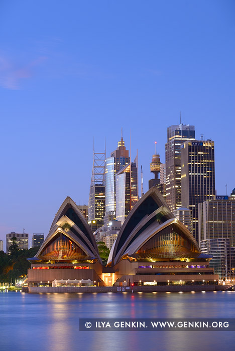 australia stock photography | Sydney Opera House on a Blue Morning, Kirribilli, Sydney, New South Wales (NSW), Australia, Image ID AU-SYDNEY-OPERA-HOUSE-0020