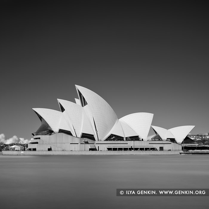 Australia stock photography sydney opera house sails in black and white sydney new