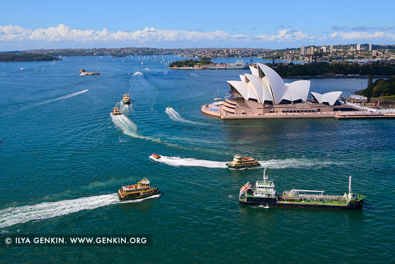 australia stock photography | Busy Time in the Sydney Harbour, Sydney, New South Wales (NSW), Australia, Image ID AU-SYDNEY-OPERA-HOUSE-0023