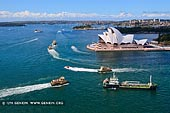 australia stock photography | Busy Time in the Sydney Harbour, Sydney, New South Wales (NSW), Australia. Sydney Harbour Bridge Pylon Lookout provides a great via over the Sydney Harbour. The waters near the Sydney Opera House are always busy and full of large ships and small yachts and ferries.