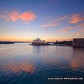 australia stock photography | Clouds above Sydney Opera House at Sunrise, Sydney, NSW, Australia, Image ID AU-SYDNEY-OPERA-HOUSE-0027. Beautiful photo of vivid clouds gathering above the Sydney Opera House at sunrise in Sydney, NSW, Australia.