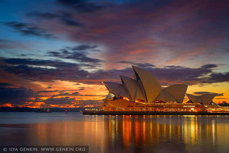 australia stock photography | Vivid Dawn Over Sydney Opera House, Sydney, NSW, Australia