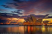 australia stock photography | Vivid Dawn Over Sydney Opera House, Sydney, NSW, Australia, Image ID AU-SYDNEY-OPERA-HOUSE-0031. Beautiful image of the dramatic and vivid dawn over The Opera House in Sydney, NSW, Australia.