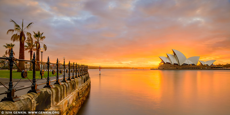 australia stock photography | Beautiful and Dramatic Sunrise Over Sydney Opera House, Sydney, NSW, Australia, Image ID AU-SYDNEY-OPERA-HOUSE-0033