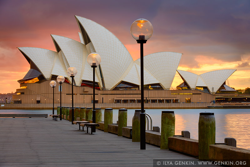 australia stock photography | Sydney Opera House at Sunrise, Sydney, NSW, Australia