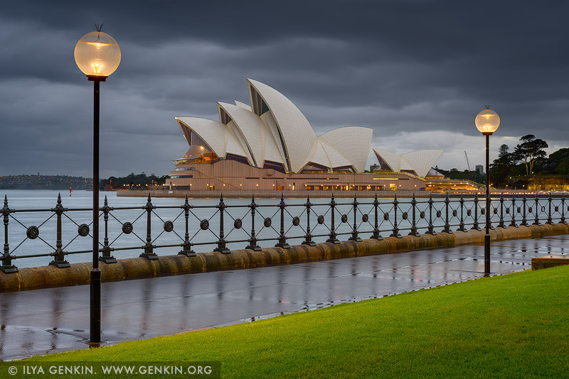 australia stock photography | Sydney Opera House on a Rainy Morning, Sydney, NSW, Australia, Image ID AU-SYDNEY-OPERA-HOUSE-0035