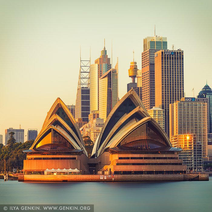 australia stock photography | Sydney Opera House at Sunrise, Kirribilli, Sydney, New South Wales (NSW), Australia