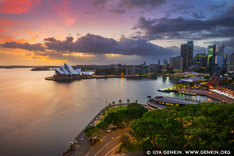 australia stock photography | Dramatic Sunrise Over Sydney Opera House and The Rocks, Sydney, New South Wales (NSW), Australia, Image ID AU-SYDNEY-OPERA-HOUSE-0042