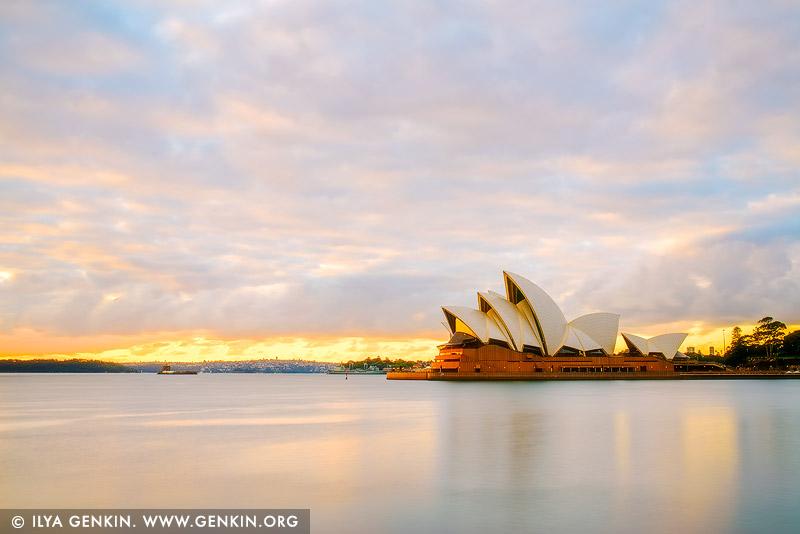 australia stock photography | Paster Sunrise Over Sydney Opera House, Sydney, NSW, Australia, Image ID AU-SYDNEY-OPERA-HOUSE-0044