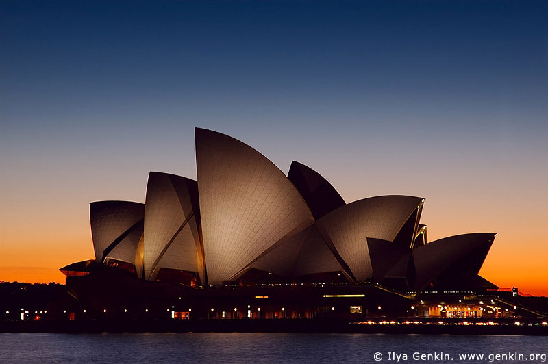 australia stock photography | Sydney Opera House at Dawn, Sydney, New South Wales, Australia, Image ID AUOH0001