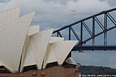 australia stock photography | The Sydney Opera House and The Harbour Bridge, View from Mrs. Macquaries Chair, Sydney, New South Wales, Australia, Image ID AUOH0006.