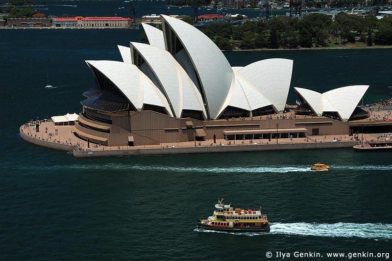 australia stock photography | Sydney Opera House. Aerial View., Sydney, NSW, Australia, Image ID AUOH0007